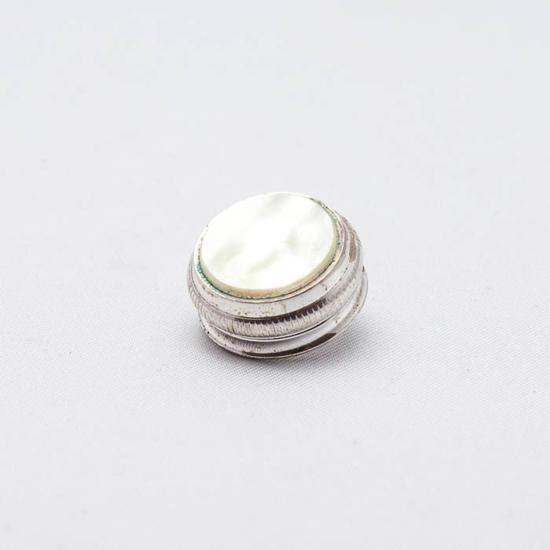 ventielknop zilver bariton en euphonium Conn